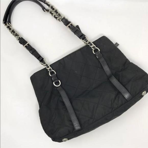 0bdc98175b65 Prada quilted nylon tote handbag chain strap. M 5ae374bca44dbe30eeaddbcb